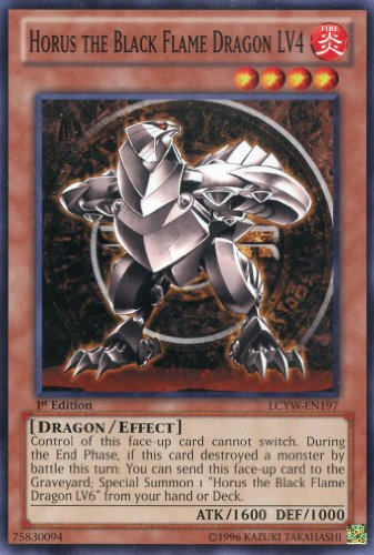 Yu-Gi-Oh! - Horus the Black Flame Dragon LV4 (LCYW-EN197) - Legendary Collection 3: Yugi's World - 1st Edition - Common - Black Flame Dragon