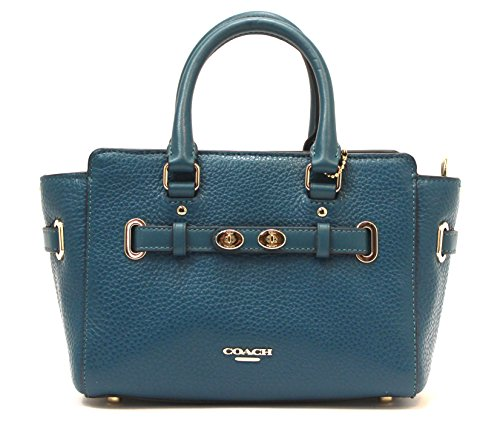 Coach Leather Mini Blake Carryall Cross-body Satchel (Atlantic)