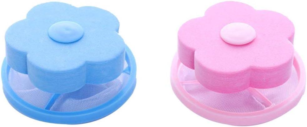 MachinYesell Maison Pratique Machine /à Laver Laine Filtration Balle /Épilation Durable Forme de Fleur Sac de Filtre en Maille Boule de Lessive Balle livr/ée au Hasard