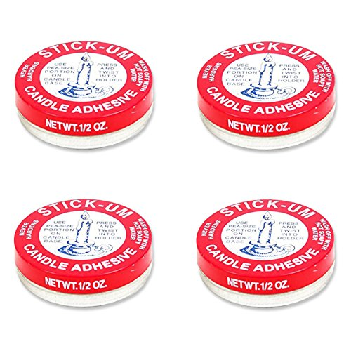 Fox Run 3100 Stick-Um Candle Adhesive, 0.5-Ounce (4 PACK)