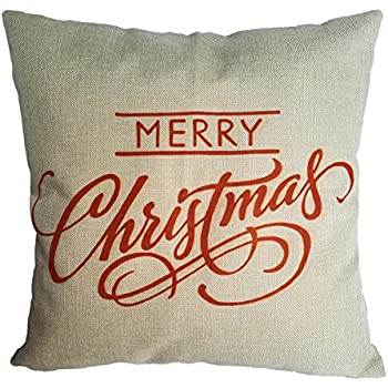 Sankuwen Home Decoration Pillowcase Christmas Pillow Cushion Cover (Merry Christmas)