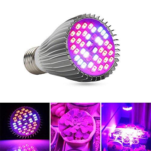 DSstyles - foco LED de 30 W/50 W/80 W para plantas, luz de crecimiento, espectro completo, E27, 30w