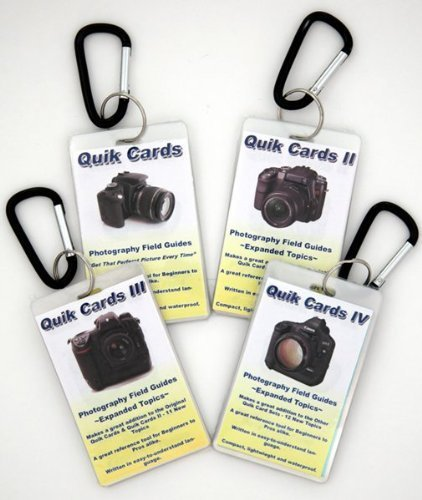 (4-Pack DSLR & SLR Cheatsheets. Pocket sized quick reference cards. Complete series for use with Medium Format Cameras including: Bronica, Mamiya & Hasselblad)