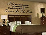 HUANYI Life...Dance in the RAIN Vinyl Wall Decal
