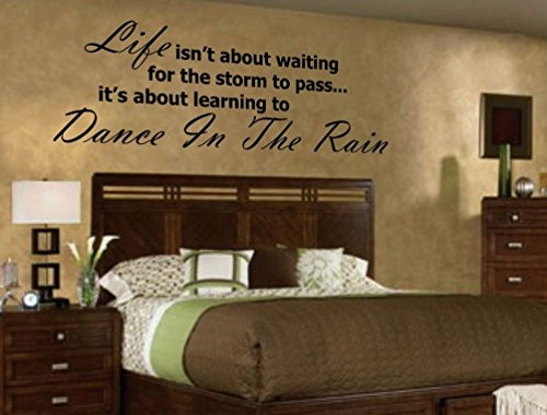 HUANYI Life...Dance in the RAIN Vinyl Wall Decal by HUANYI (Image #1)