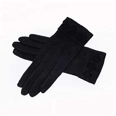 5d0591bacc2 DXYAN Women s Screen Gloves Warm Lined Thick Touch Warmer Winter Gloves (Black-S)