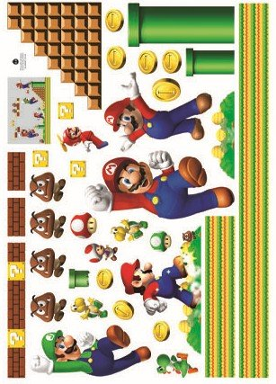 Mario Bors Wall Decal For Kid S Room Decor Sticker