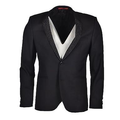 HUGO BOSS Jacket Adrison Black Studded Size 48 / 38R RRP £450 MCH 109