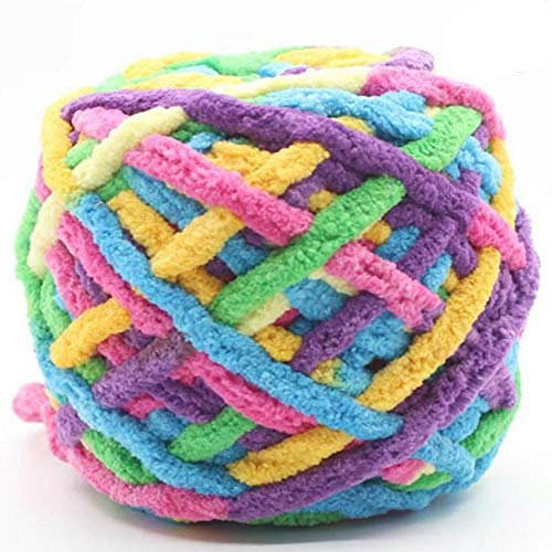 - Jumbo Chenille Yarn,Colorful Chunky Chenille Yarn,Arm Knit Yarn,Snuggly Chenille Yarn for DIY Throw Blanket Cat Cave 100g