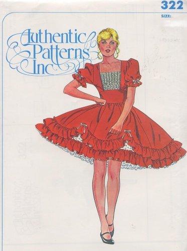 Authentic Patterns #322 - Ladies' Square Dance Dress Pattern