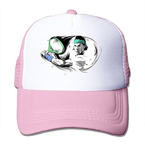 ACMIRAN Rafael Nadal Tennis Player Soft Mesh Hat One Size Pink (Tennis Player Costumes)