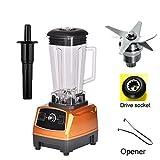 Wotefusi Electric Blenders Power Blenders 70 oz 2L 3-Speed Home Kitchen Fruit Juicer Mixer Golden 110V