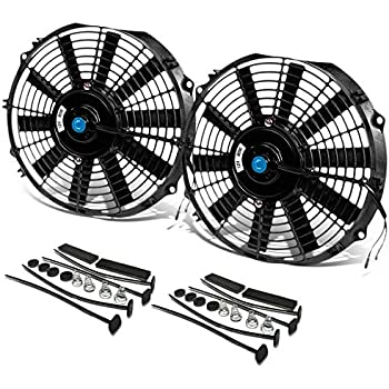 Fans & Kits Adaptable 12 High Performance Electric Cooling Fan Push Pull Electric Radiator Slim Fan 12v 80w 2150cfm With Mounting Kit Diameter 11.73 For Sale Cooling System