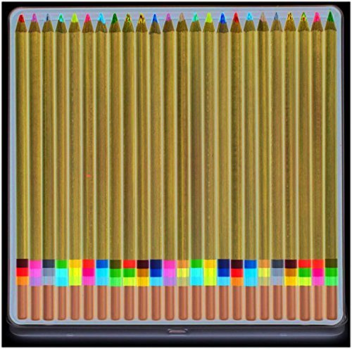 (Koh-I-Noor FA33TIN24BC Tri-Tone Multicolored Pencils 24/ST Multi)