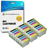 24 XL (6 SETS) Compatible Epson T0711-T0714 (T0715) Ink Cartridges for Stylus D78 D92 D120 DX400 DX4000 DX4050 DX4400 DX4450 DX5000 DX5050 DX6000 DX6050 DX7000 DX7400 DX7450 DX8400 DX8450 DX9200 DX9400F DX9450 S20 S21 SX100 SX105 SX110 SX115 SX200 SX205 SX209 SX210 SX215 SX218 SX400 SX405 SX410 SX415 SX510W SX515W SX600FW SX610FW Office B40W B300F BX310FN BX600FW BX610FW - Black/Cyan/Magenta/Yellow, High Capacity