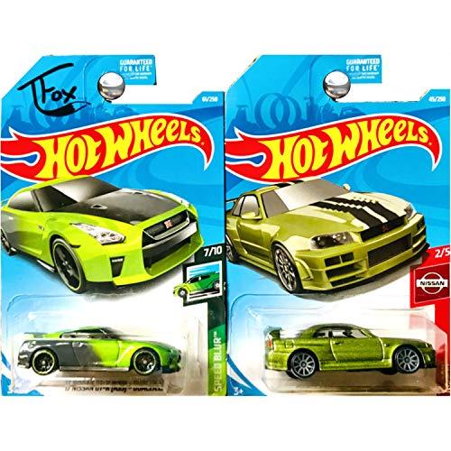 Hot Wheels Nissan Skyline GTR GT-R R34 Guaczilla in Green Set of 2