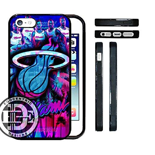 C DESIGN & CO. Miami Vice Heat Basketball Art TPU rubber Silicone Phone Case ()