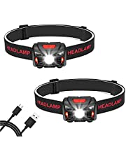 Linkax LED Stirnlampe Kopflampe USB Wiederaufladbare