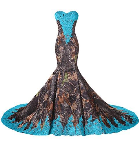 formal camouflage wedding dresses - 4