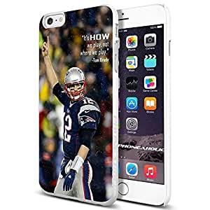 diy zhengNFL New England Patriots Tom Brady , , Cool iphone 5/5s Smartphone Case Cover Collector iphone TPU Rubber Case White [By PhoneAholic]