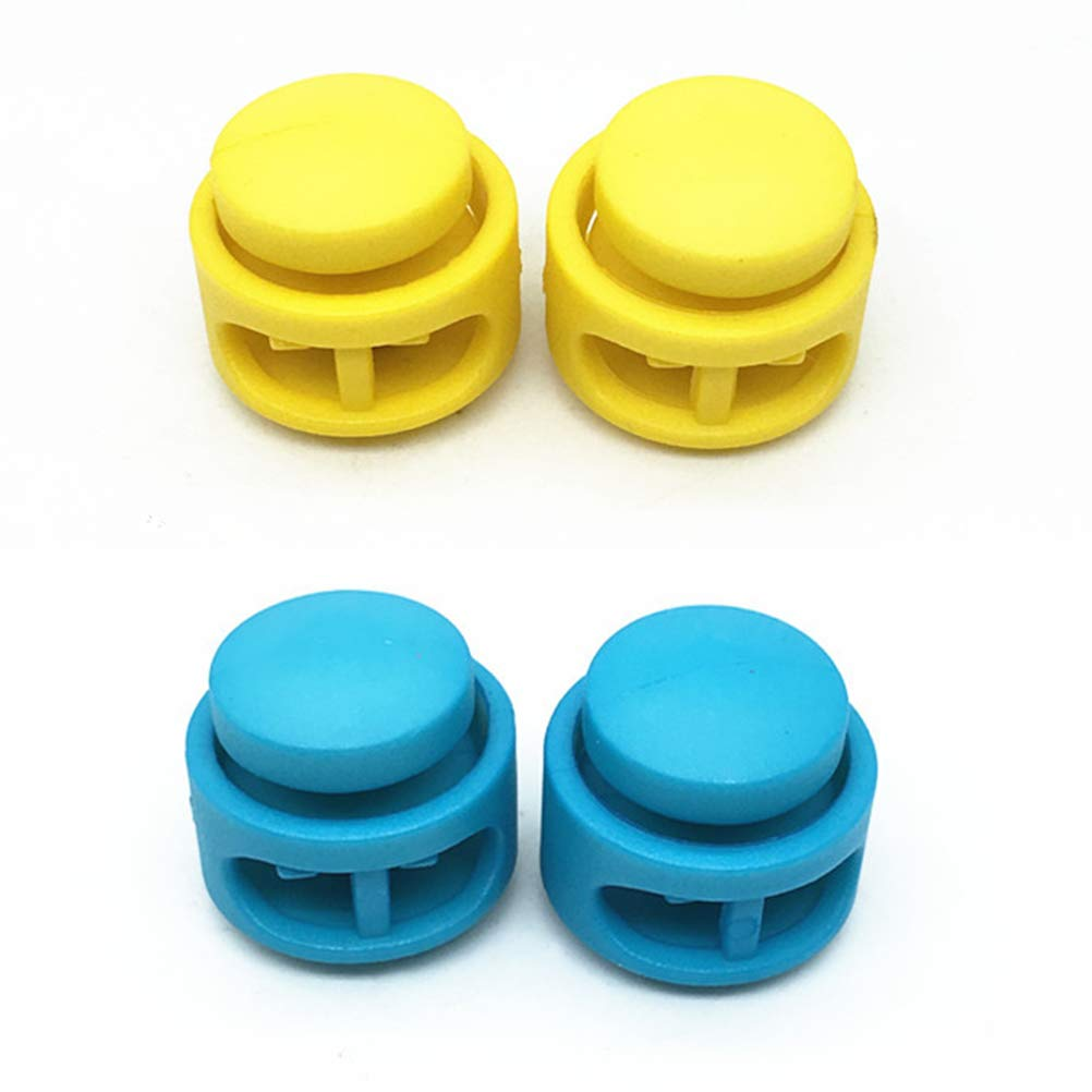 Artibetter 50Pcs Spring cord locks double holes toggle stoppers sliders cord ends