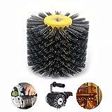 5 Inch 80# Abrasive Wire Drawing Wheel Drum Burnishing Brush For Wooden Polishing 120mm