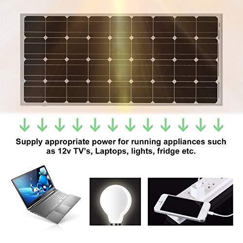 Peppydazi Portable Boat Car Solar Battery Charger 100W Moncrystalline Solar Panel Module by Peppydazi (Image #2)