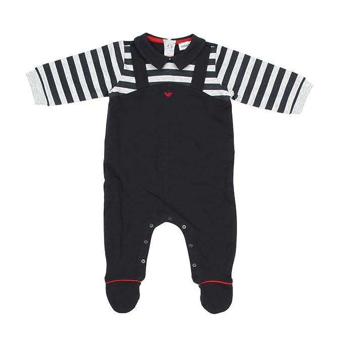 4db6d77456 Armani Junior Tutina in cotonecon Bretelle Bambino Baby Boy MOD ...