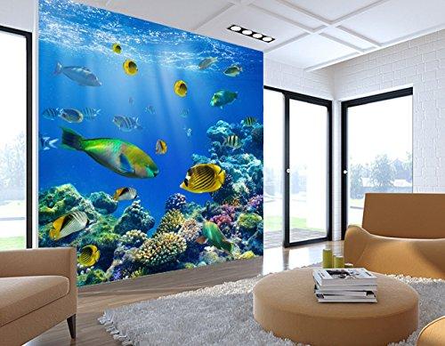 3D Ocean Fish Animal 95 Wall Paper Wall Print Decal Wall Deco Indoor wall Murals Removable Wall Mural | Self-adhesive Large Wallpaper , AJ WALLPAPER Carly ()