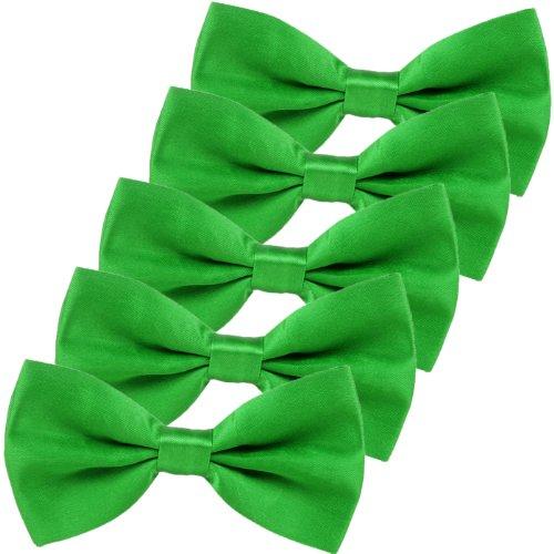 (Green Bow Ties for Men Lucky Shamrock Green Bowtie)
