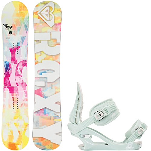Roxy Sugar Banana 149cm Womens Snowboard + K2 Charm Bindings - Fits US Wms Boots Sizes: 6,7,8,9