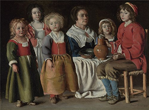 Oil Painting 'The Le Nain Brothers A Woman And Five Children ' Printing On Polyster Canvas , 20 X 27 Inch / 51 X 69 Cm ,the Best Home Office Gallery Art And Home Decoration And Gifts Is This Beautiful Art Decorative Prints On Canvas