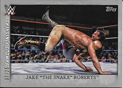 2015 Topps WWE Undisputed Famous Finishers Silver #26 Jake Snake Roberts #07/25]()