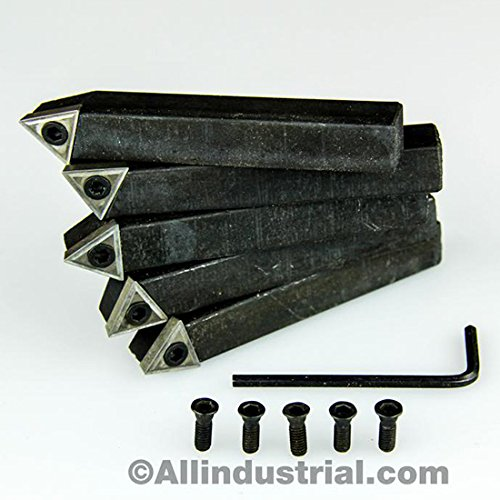"1//4/"" 5PC INDEXABLE CARBIDE INSERTS TURNING TOOL BIT SET-C6"