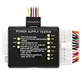 Insten 20/24-pin Power Supply Tester for ATX/SATA/HDD, Black