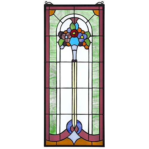 - Stained Glass Panel - Bouquet of Posies Stained Glass Window Hangings - Window Treatments