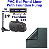 Patriot PVC Beginner Pond Combo 15x15 20 Mil PVC Liner with FK950 Fountain - PVCFKC3