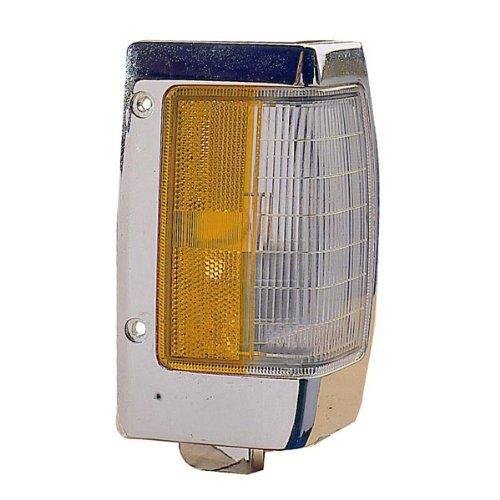 1990-1997 Nissan D21 Hardbody Pickup Truck Turn Signal Marker Lamp (with Chrome Trim) Corner Park Light Right Passenger Side (1990 90 1991 91 1992 92 1993 93 1994 94 1995 - Truck 1997 Mazda Pickup 97