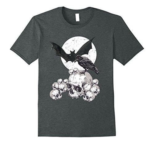 Mens Edgar Allen Poe Nevermore Raven Halloween Horror T-Shirt 3XL Dark Heather