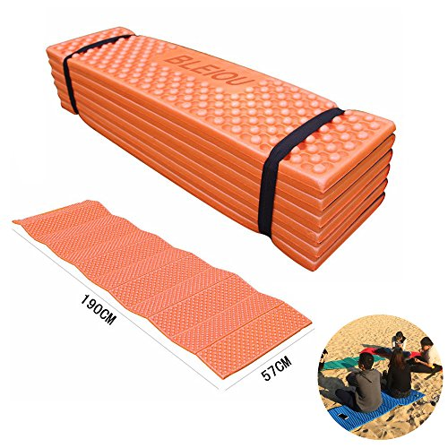 Outdoor Camping Sleeping Mat Tent Sleeping Pad (Orange)