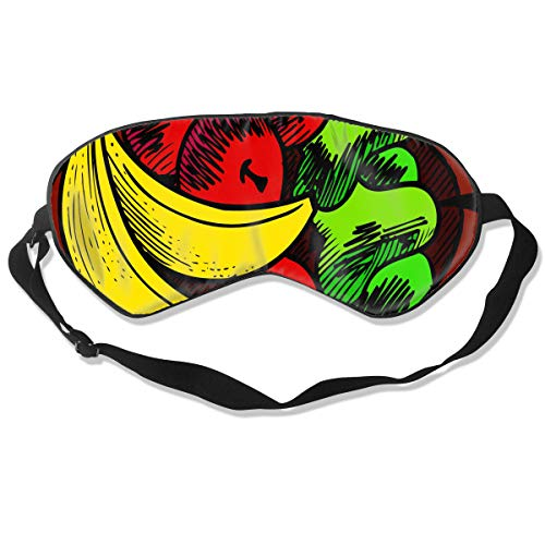 (All agree Sleep Mask Fruit Basket Eye Mask Cover with Adjustable Strap Eyeshade for Travel, Nap, Meditation, Blindfold)