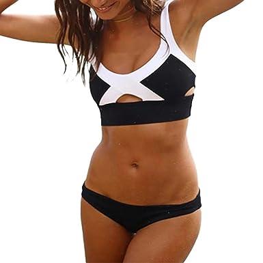Neckholder Bikini Strass elegant Strandmode Bademode Beachwear Swimwear Größe