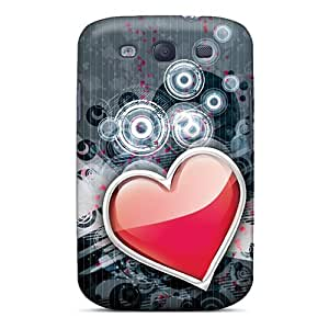 Tpu Case Cover For Galaxy S3 Strong Protect Case - Ticker Design