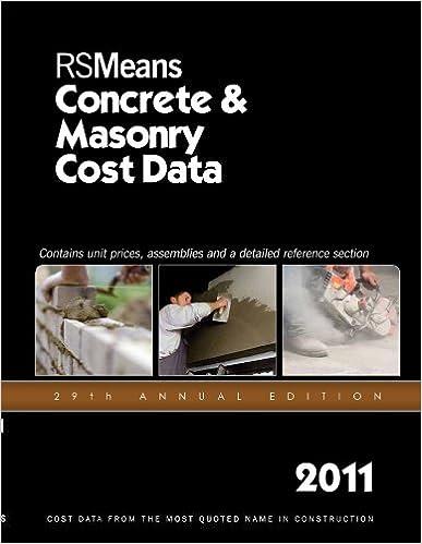 RSMeans Concrete & Masonry Cost Data 2011