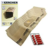 Karcher WD3.000 WD3.999 Vacuum Cleaner Dual Filter Bags (Pack of...