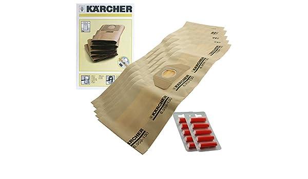 Genuine Karcher WD3.000 WD3.999 aspiradora doble bolsas de filtro ...