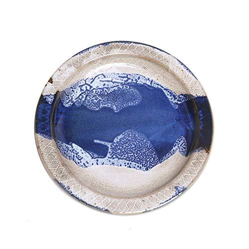 - NOVICA Hand Crafted Ceramic Food Safe Platter, Blue and White, Ocean Tide'