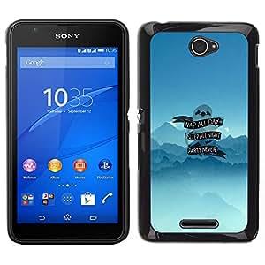 Caucho caso de Shell duro de la cubierta de accesorios de protección BY RAYDREAMMM - Sony Xperia E4 - Dormir toda la noche Pereza