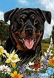 Best of Breed Rottweiler Summer Flowers Garden Flags