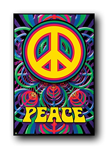 t Warmth Soft Plush Throw for Couch Peace Sign Poster Love Hippy Art (Peace Sign Fleece)
